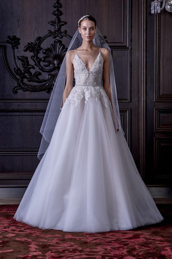 Пышные свадебные платья «принцесса» 2015-2016 Monique Lhuillier