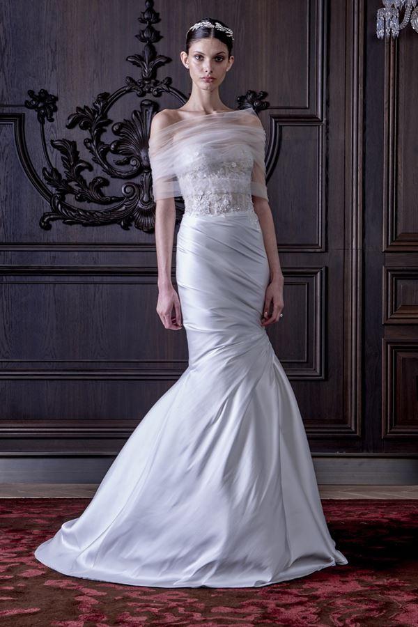 Шелковые свадебные платья 2015-2016 Monique Lhuillier