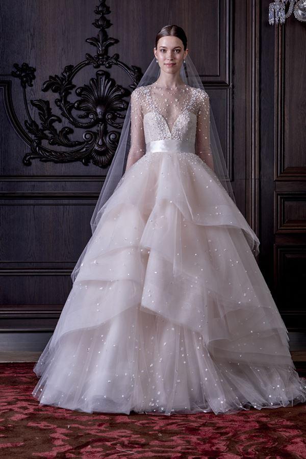 Свадебные платья с воланами 2015-2016 Monique Lhuillier