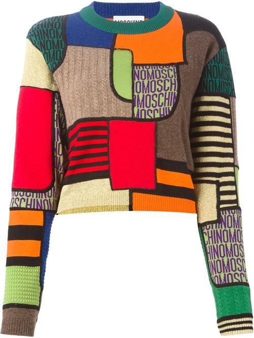 Короткие свитера осень-зима 2015-2016 Moschino