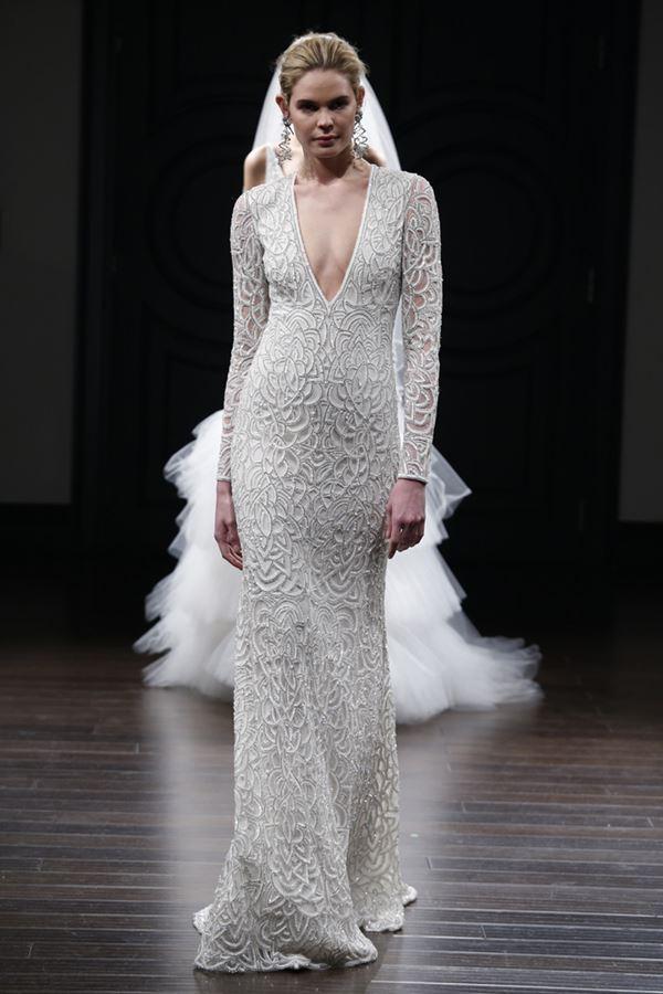 Простые и элегантные свадебные платья 2015-2016 Naeem Khan