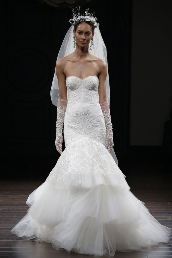 Свадебные платья с тюлевой юбкой 2015-2016 Naeem Khan