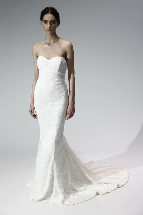 Простые и элегантные свадебные платья 2015-2016 Nicole Miller