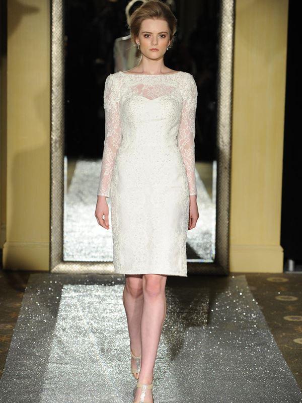 Короткие свадебные платья 2015-2016 Oleg Cassini
