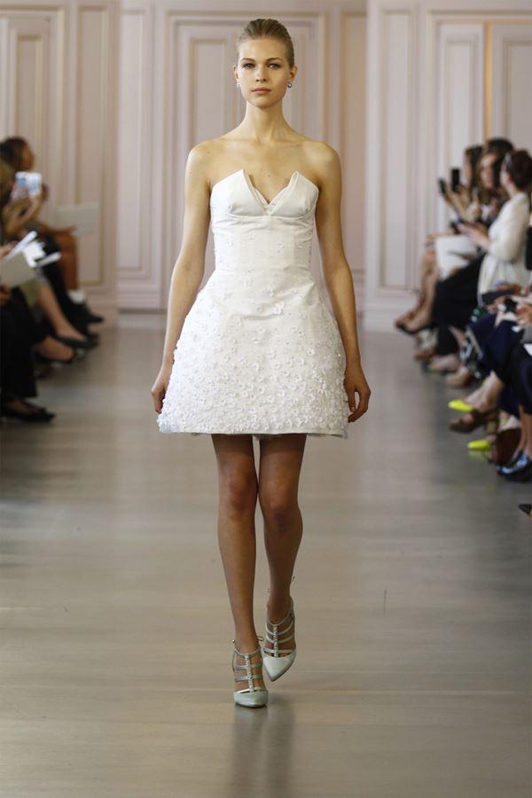 Короткие свадебные платья 2015-2016 Oscar de la Renta