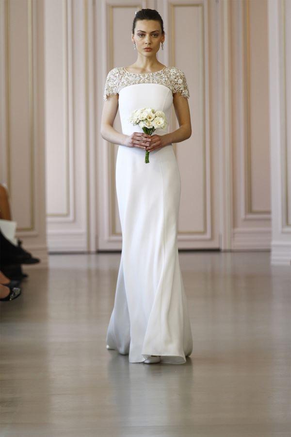 Простые и элегантные свадебные платья 2015-2016 Oscar de la Renta