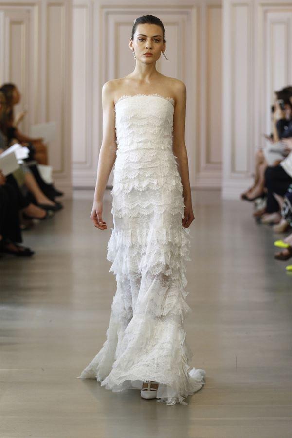 Свадебные платья с воланами 2015-2016 Oscar de la Renta