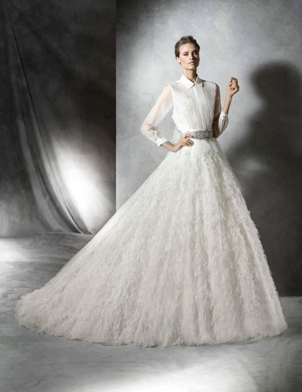 Пышные свадебные платья «принцесса» 2015-2016 Pronovias