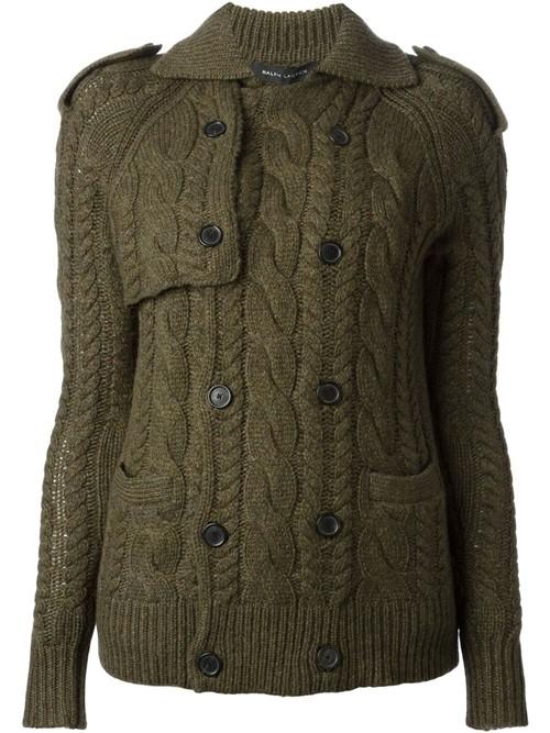 Кардиганы объемной вязки осень-зима 2015-2016 Ralph Lauren Black