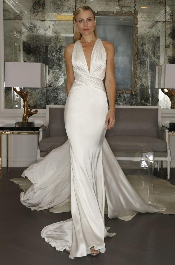 Простые и элегантные свадебные платья 2015-2016 Romona Keveza