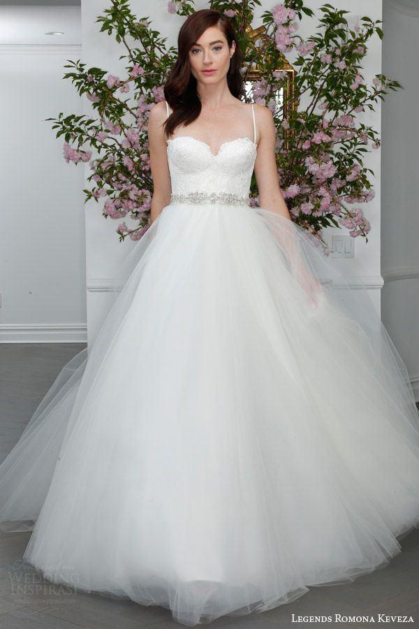 Свадебные платья с тюлевой юбкой 2015-2016 Romona Keveza