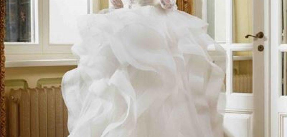 Свадебные платья с воланами 2015-2016