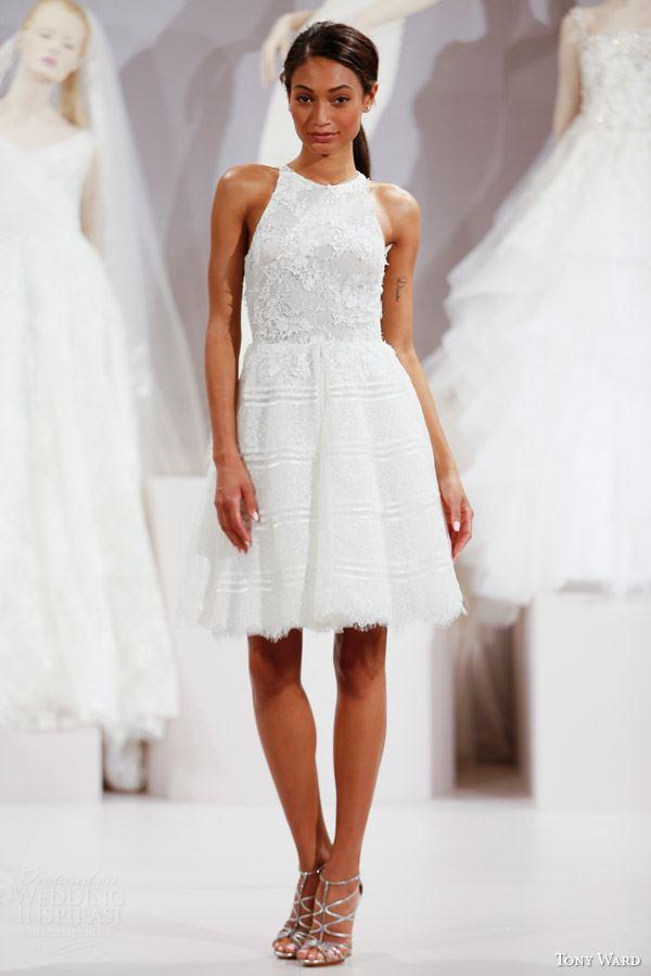 Короткие свадебные платья 2015-2016 Tony Ward