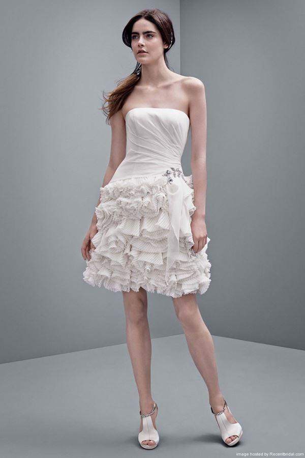 Свадебные платья с воланами 2015-2016 Vera Wang