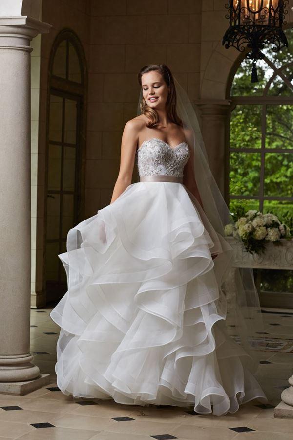 Свадебные платья с воланами 2015-2016 Watters