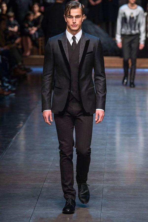 Мужские костюмы осень-зима 2015-2016 Dolce & Gabbana