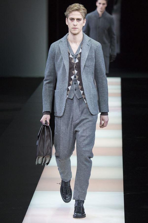 Мужские костюмы осень-зима 2015-2016 Giorgio Armani