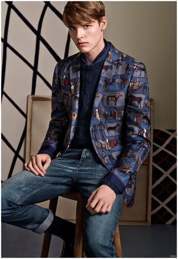 Мужские пиджаки осень-зима 2015-2016 Gucci