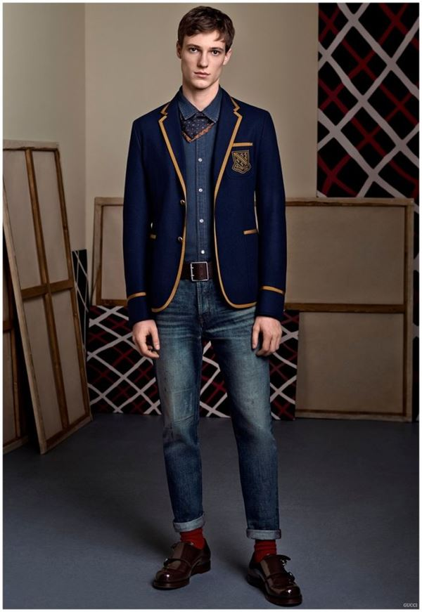 Мужские джинсы осень-зима 2015-2016 Gucci