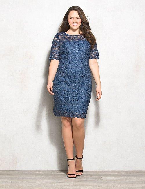 Коктейльные платья для полных 2015-2016 (17)