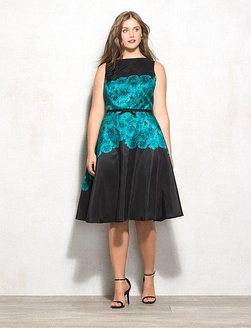 Коктейльные платья для полных 2015-2016 (27)