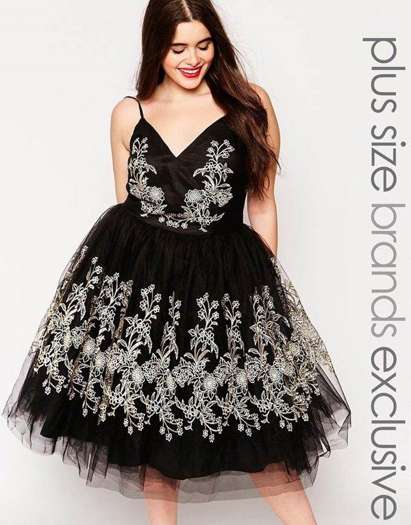 Коктейльные платья для полных 2015-2016 (36)