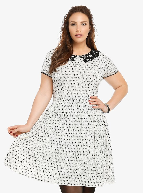 Короткие платья для полных 2015-2016 (10)