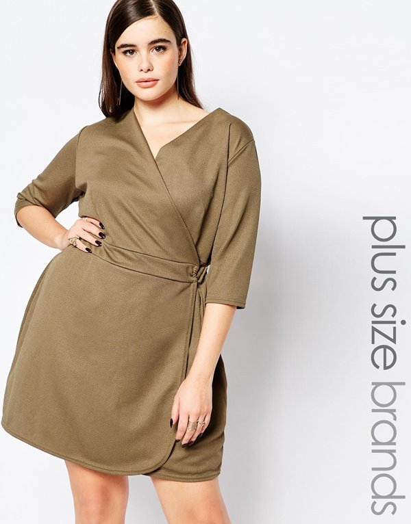Короткие платья для полных 2015-2016 (28)