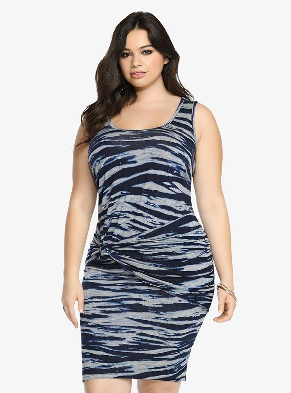 Короткие платья для полных 2015-2016 (4)