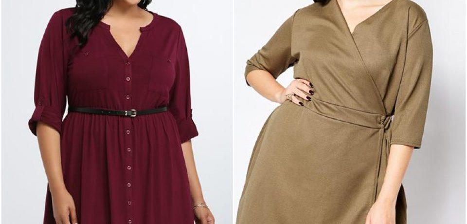 Короткие платья для полных 2015-2016