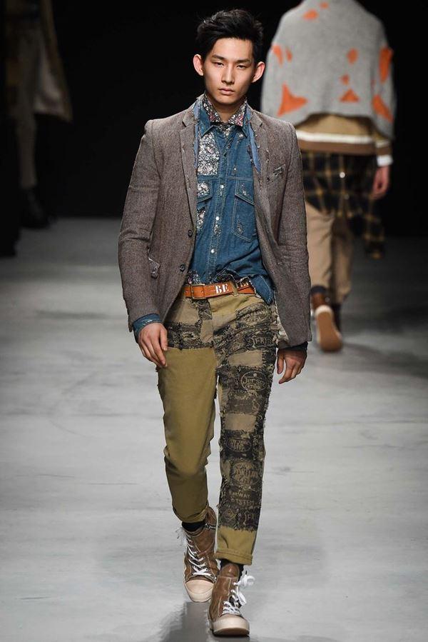 Мужские джинсы осень-зима 2015-2016 Miharayasuhiro