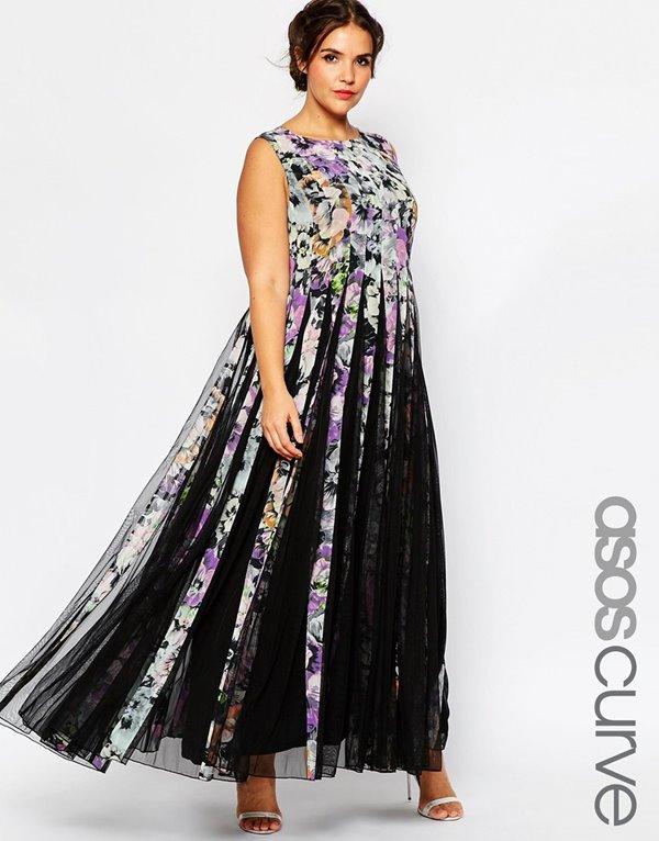 Модные длинные платья большого размера 2015-2016 (14)