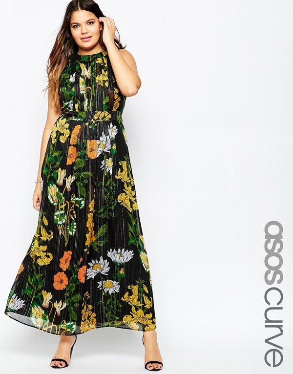 Модные длинные платья большого размера 2015-2016 (15)