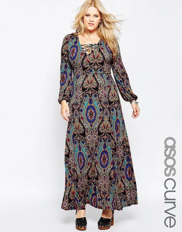 Модные длинные платья большого размера 2015-2016 (24)
