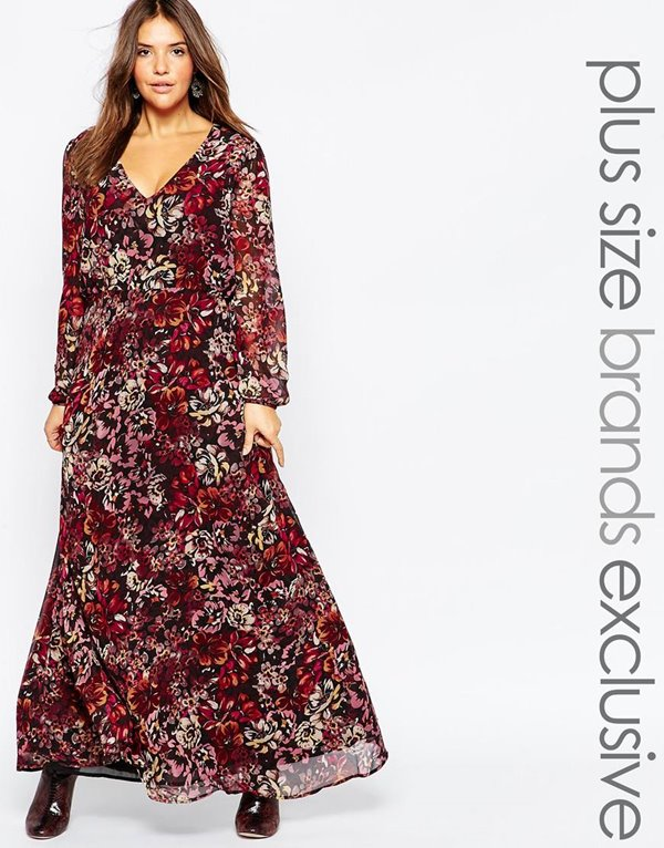 Модные длинные платья большого размера 2015-2016 (30)