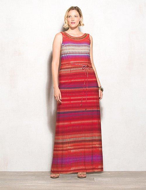 Модные длинные платья большого размера 2015-2016 (8)