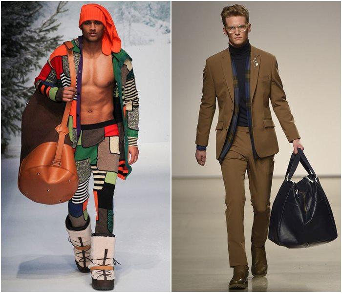 Мужские сумки осень-зима 2015-2016: Moschino, Perry Ellis