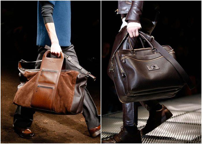 Мужские сумки осень-зима 2015-2016: Salvatore Ferragamo, Versace