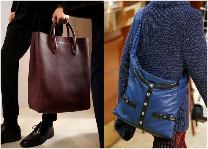Мужские сумки осень-зима 2015-2016: Burberry Prorsum, Chanel