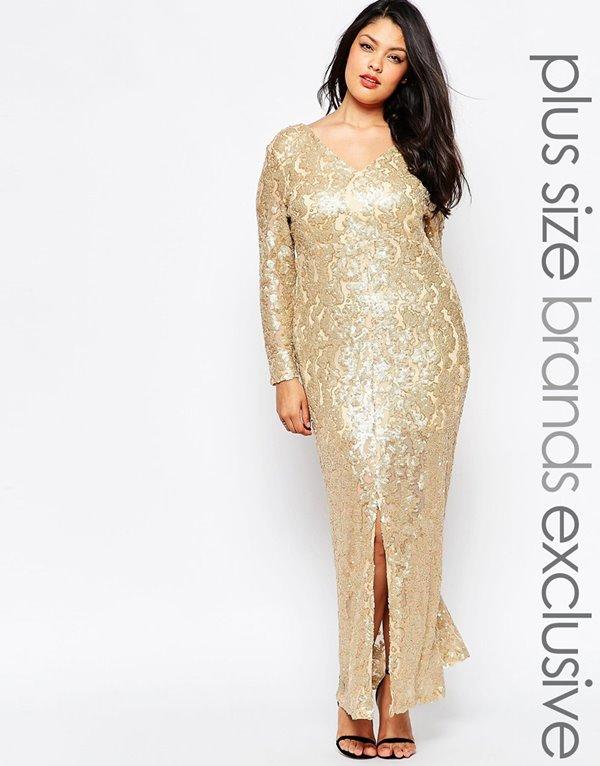 Вечерние платья для полных 2015-2016 (18)