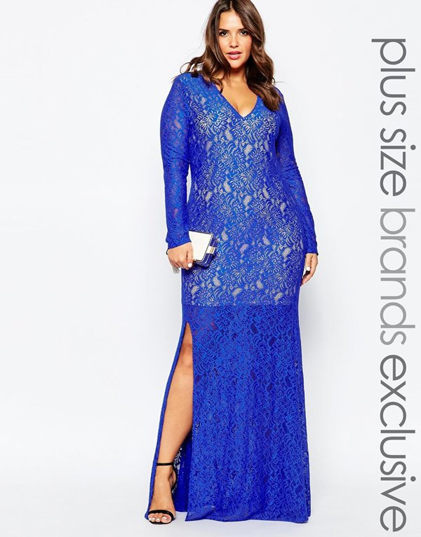 Вечерние платья для полных 2015-2016 (26)