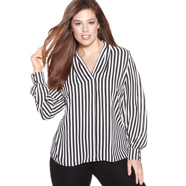 Блузки и рубашки для полных 2015-2016 (2)