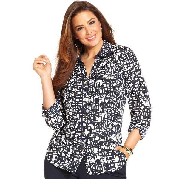 Блузки и рубашки для полных 2015-2016 (5)
