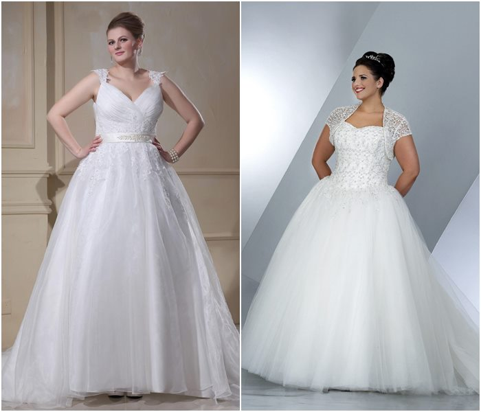 Свадебные платья для полных 2015-2016 фото (13)