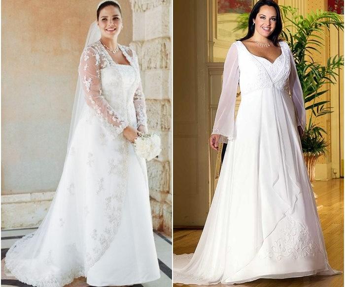 Свадебные платья для полных 2015-2016 фото (2)
