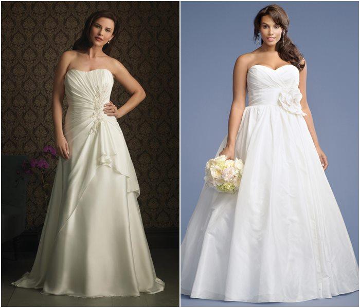 Свадебные платья для полных 2015-2016 фото (4)