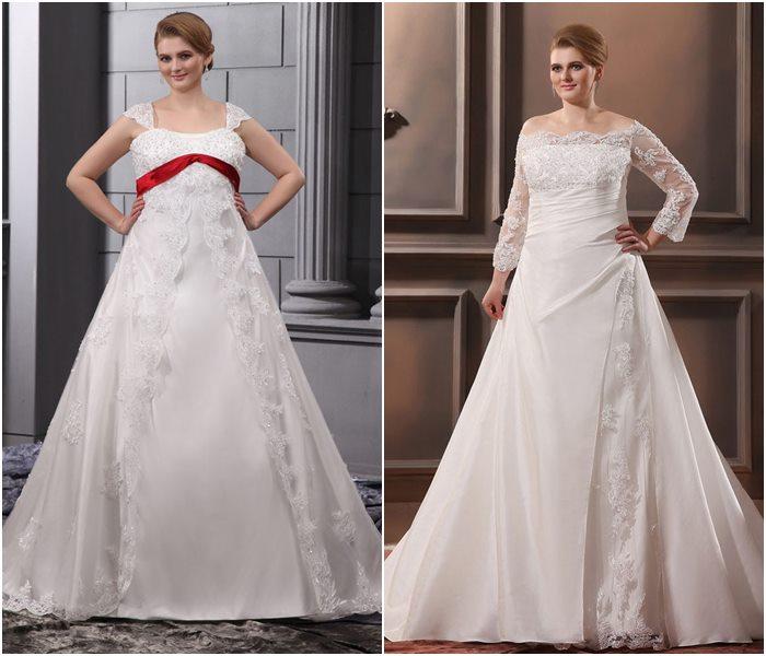 Свадебные платья для полных 2015-2016 фото (5)