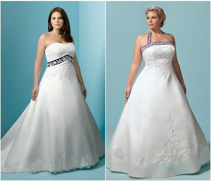 Свадебные платья для полных 2015-2016 фото (6)