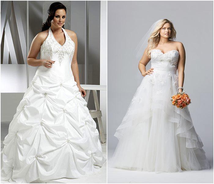 Свадебные платья для полных 2015-2016 фото (7)