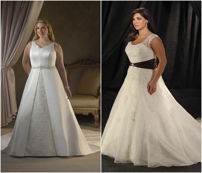 Свадебные платья для полных 2015-2016 фото (8)